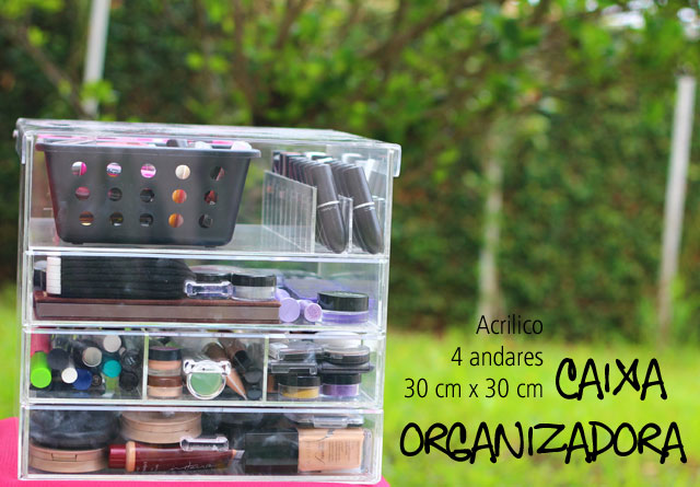 771887729f3 Caixa de acrílico - tudo organizado!