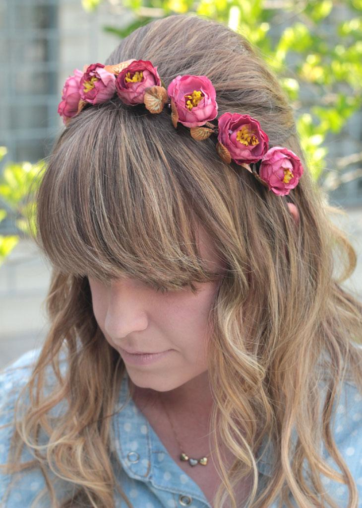 60c01bb9bcc31 Sugestão de penteado  coroa de flores
