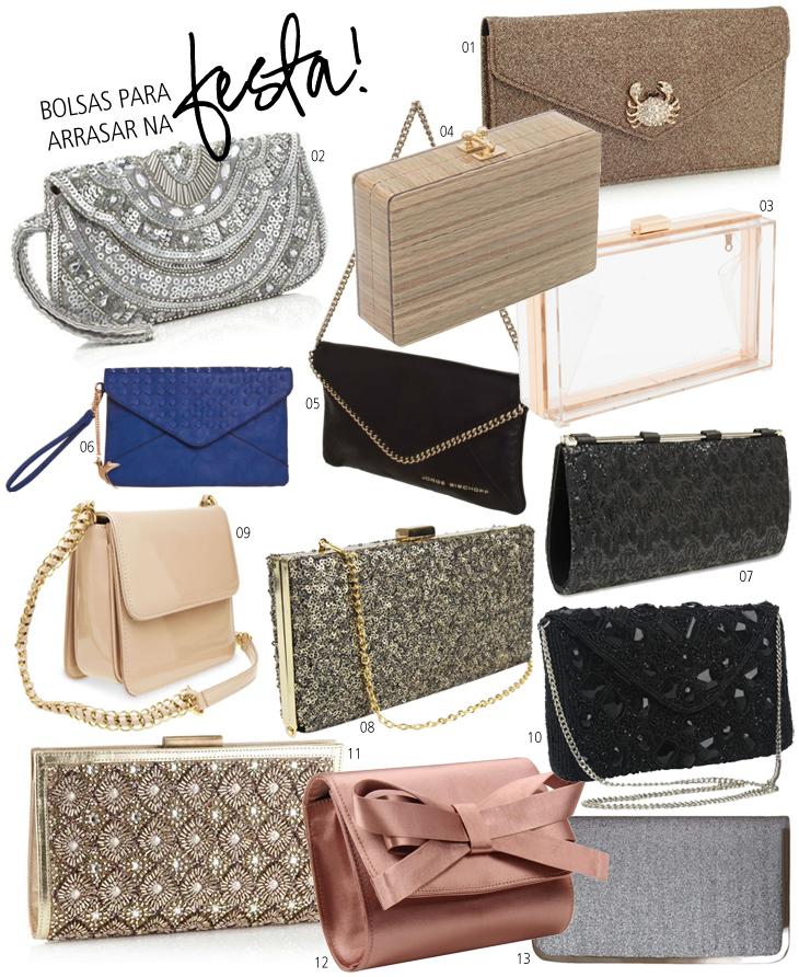 Bolsa De Festa Saara : Sele??o bolsas de festa