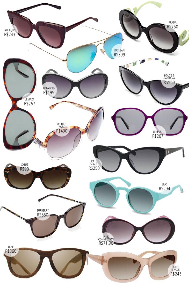 Links para os óculos  Alcaçuz   Ray Ban   Prada   Lema 21   Polaroid    Dolce   Gabbana   Michael Kors   Lema   Kate Spade   Lotus   Livo    Burberry   Pink ... 6b06022d94