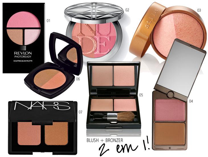 Maquiagem prática: blush + bronzer!