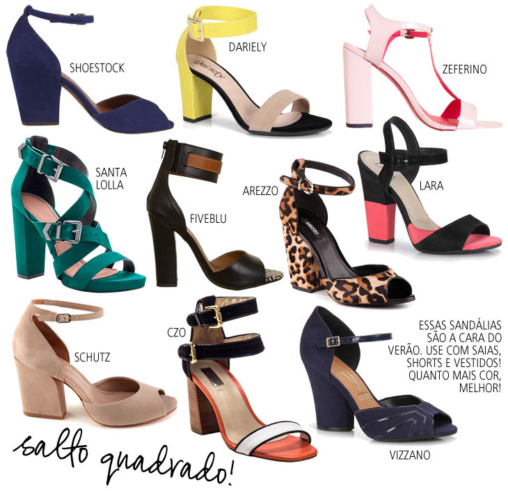 86f739b865 Desejo de verão  sandálias de salto quadrado!