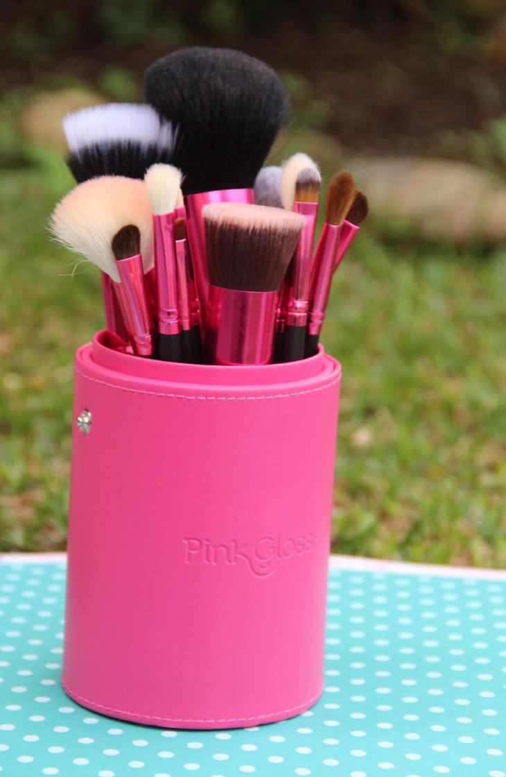 Kit de pincéis de maquiagem Amazing Pink Pink Gloss