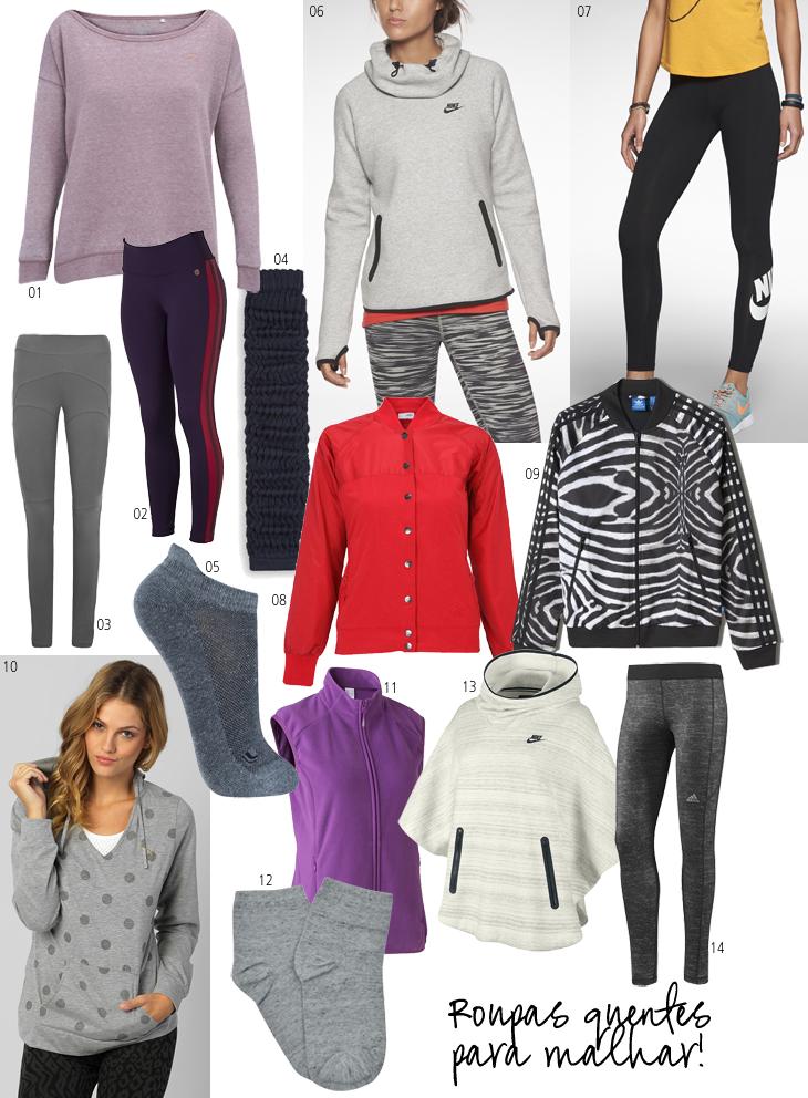 the best attitude e6515 87eed ... meu post de hoje traz uma seleção de roupas esportivas e quentinhas,  tudo para o frio não derrubar o ânimo de ninguém! Vejam só o que encontrei!