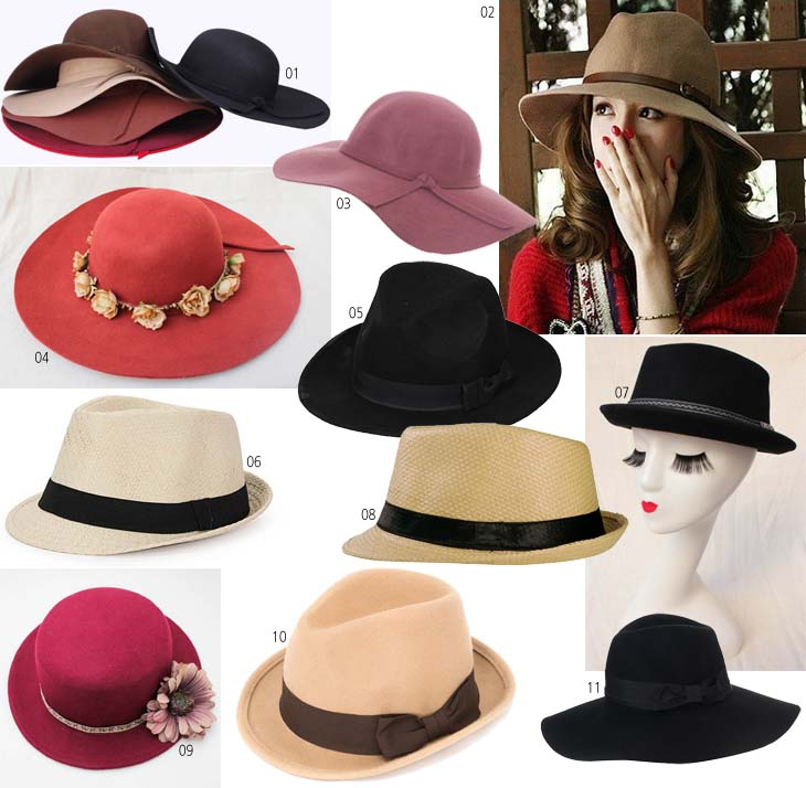 Seleção  chapéus estilosos! a9c98dddbc1
