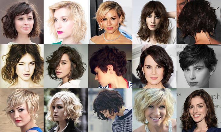 Cortes de cabelo curto Variedades
