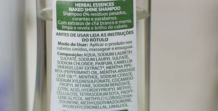Herbal Essences Naked ingredientes