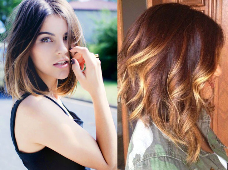 Ombre Hair Vermelho Cabelos Curtos