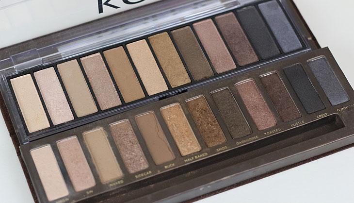 Paleta Koloss comparação com a Naked