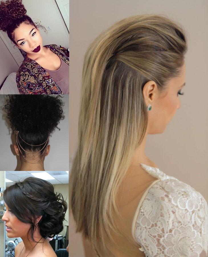 penteado para casamento e formatura