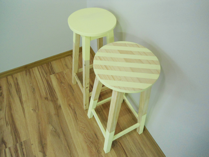 como pintar bancos de madeira