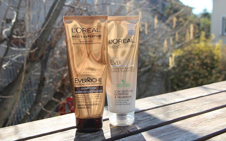 shampoo e condicionador sem sulfatos l'oréal everriche