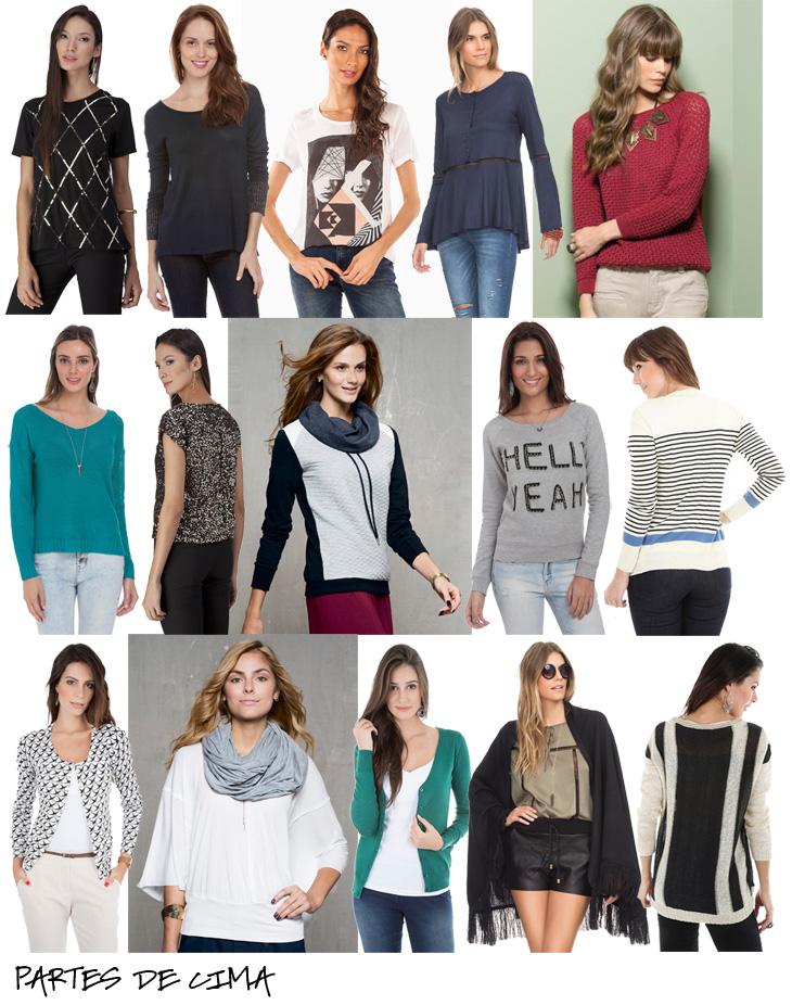roupas para o efeito sanfona