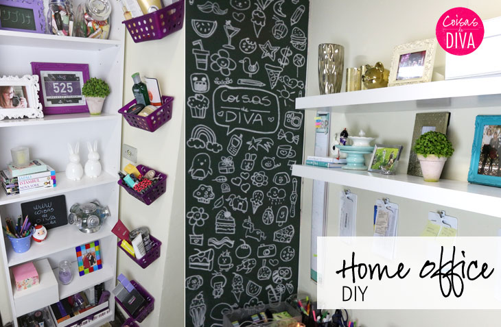 D.I.Y. Home Office como decorar gastando pouco