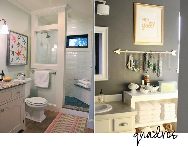 Banheiros decorados com a sua cara! -> Banheiro Apartamento Decorado Adesivo