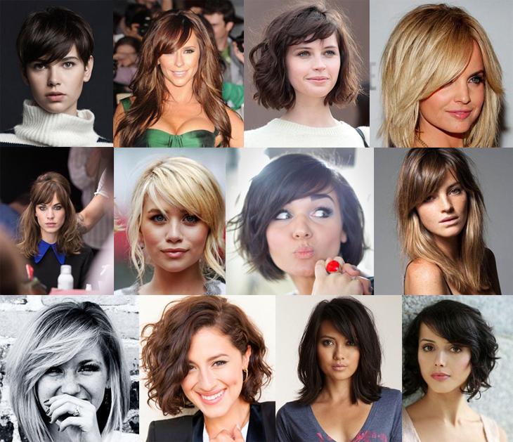 cortes de cabelo com franja