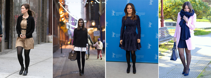 meia calça preta com vestido