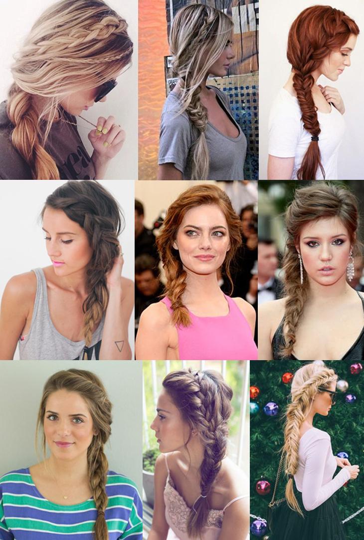 penteados de lado
