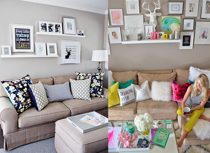 95073bc0e1098b 20 ideias de decoração com prateleiras!