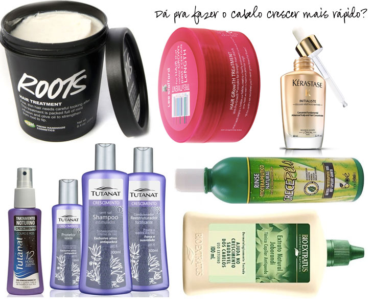 produtos que estimulam o crescimento dos cabelos