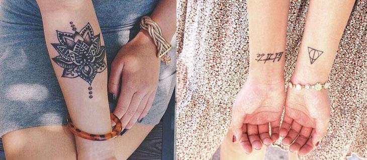 Tatuagens femininas no antebraço Várias