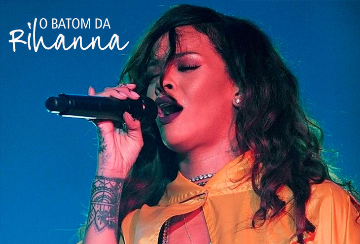 batom da Rihanna no Rock in Rio 2015
