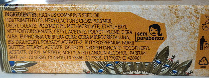 Ingredientes fórmula Batom Rosardura Quem disse, berenice?