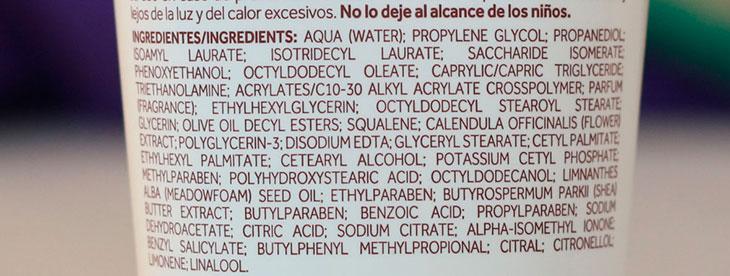 Ingredientes hidratante corporal Terapia das Águas Boticário