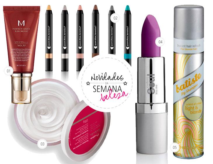 novidades mais recentes no mundo dos cosméticos e maquiagens
