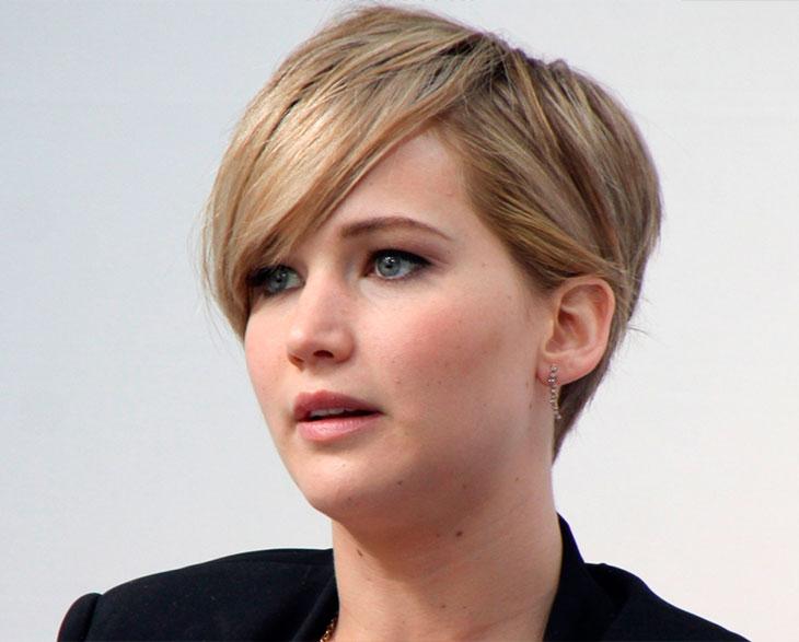cabelos curtos das atrizes