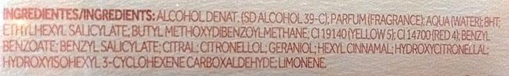 Ingredientes da fórmula perfume Boticário Elysée