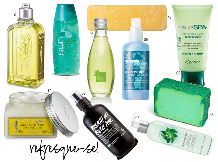 cosméticos refrescantes