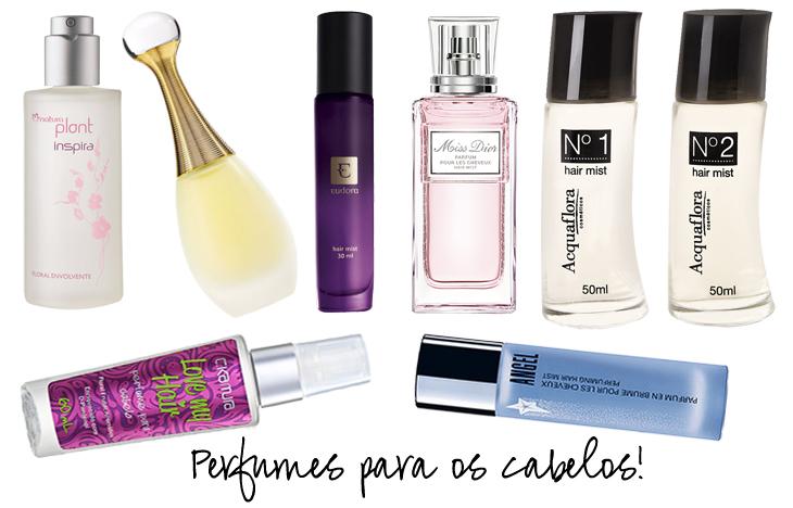 perfumes para os cabelos