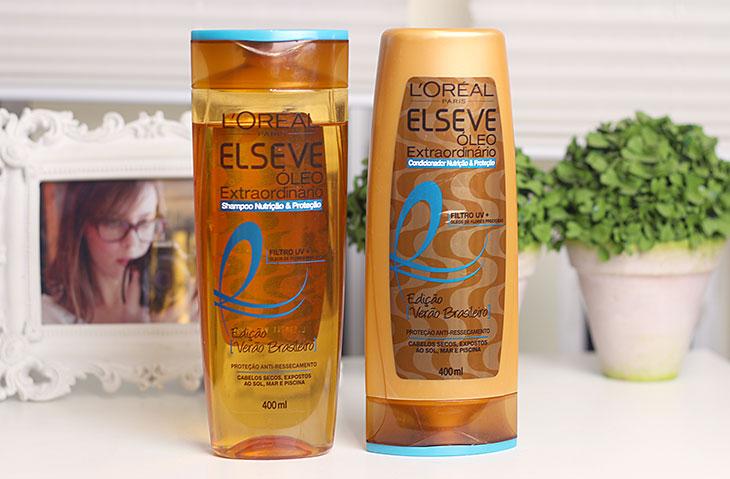 Shampoo e condicionador Elseve Edição Verão Brasileiro