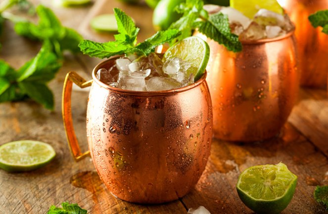 Drinks com vodka: Moscow Mule