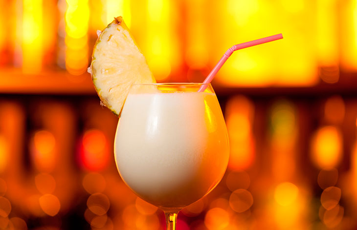 Drinks com vodka: pina colada