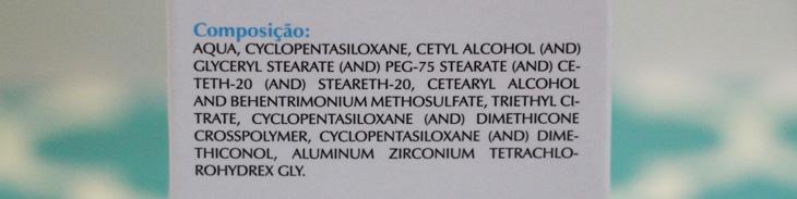 antitranspirante hipoalergênico