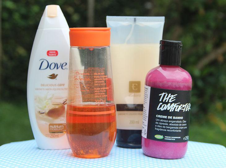 sabonetes líquidos perfumados