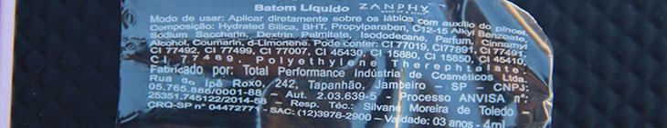 batom líquido matte metalizado zanphy