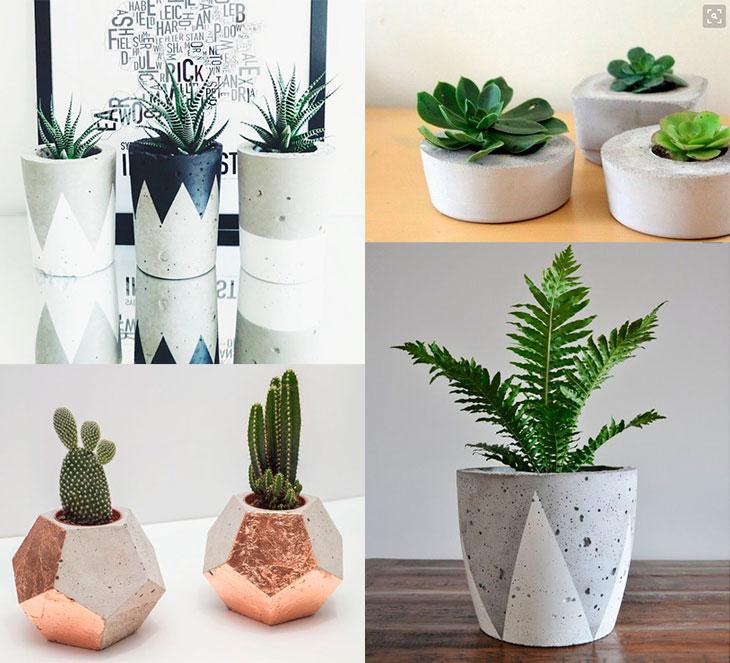 Vasos de cimento: como fazer e usar na decoração