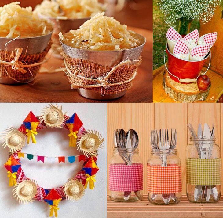 Decoraç u00e3o de festa junina fofa e fácil de fazer (+de 40 fotos!) -> Decoração Tnt Festa Junina