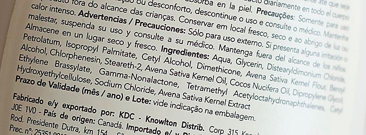 Aveeno no Brasil: resenha do hidratante Coco Nutritivo