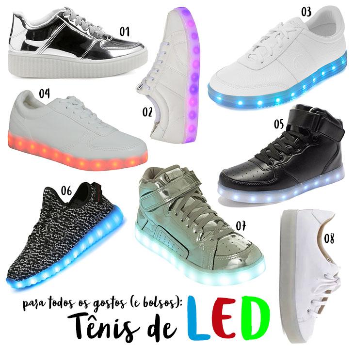 tênis de LED