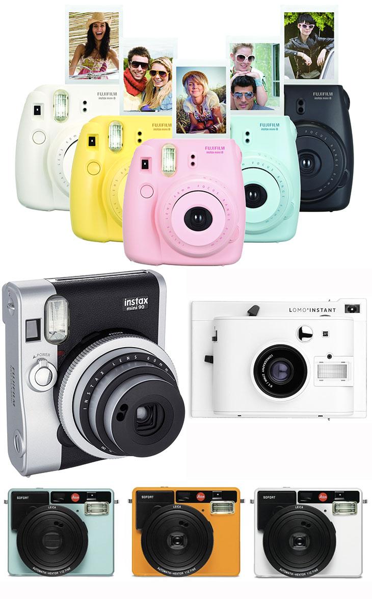 câmeras instantâneas