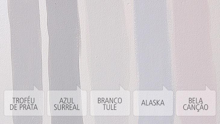 tintas escolhidas para o apartamento da Sabrina (Tintas Coral)