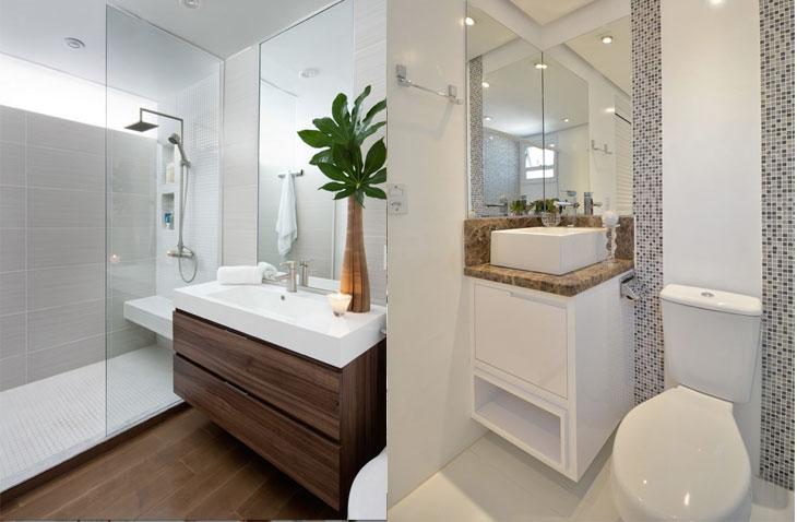 Banheiro pequeno 40 soluções lindas para aproveitar o espaço -> Layout Banheiro Pequeno