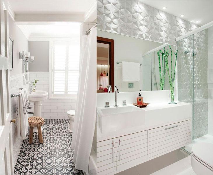 Banheiro pequeno 40 soluções lindas para aproveitar o espaço -> Banheiros Tamanho Pequeno