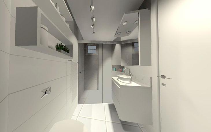 Projeto de banheiro do @meuapartamentinho da Sabrina do Coisas de Diva