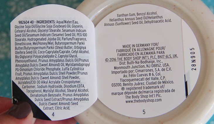 esfoliante leite de amêndoas e mel