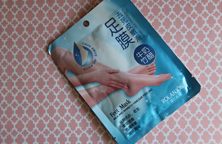 meia esfoliante para os pés